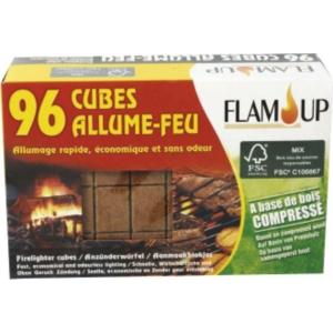 allume feu base de bois compress flam 39 up. Black Bedroom Furniture Sets. Home Design Ideas