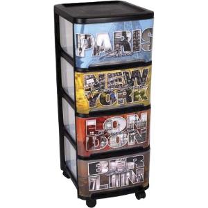 tour de rangement 4 tiroirs. Black Bedroom Furniture Sets. Home Design Ideas