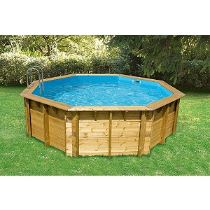 Piscine bois 1 for Piscine semi enterree bois hexagonale