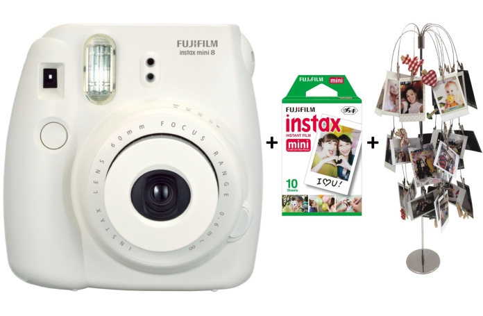 compact instantan fujifilm instax pack deco blanc. Black Bedroom Furniture Sets. Home Design Ideas