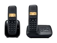 Téléphone numérique GIGASET A150A Duo noir