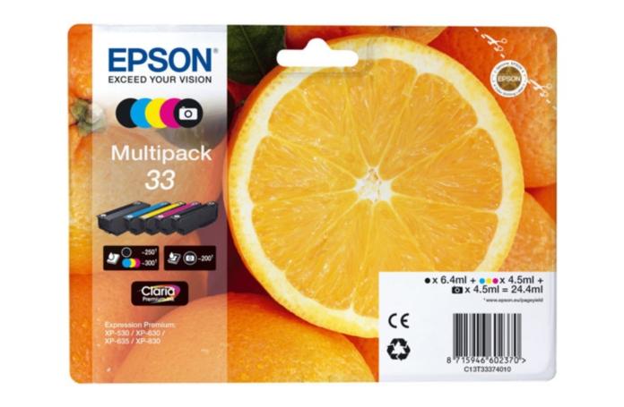 cartouche d 39 encre epson multipack orange n 33. Black Bedroom Furniture Sets. Home Design Ideas
