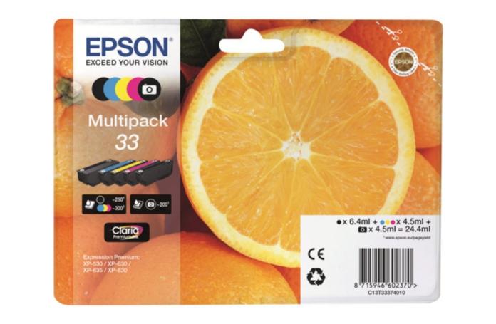 cartouche d 39 encre epson multipack orange. Black Bedroom Furniture Sets. Home Design Ideas