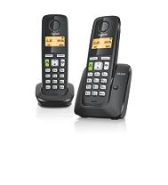 Téléphone résidentiel GIGASET AS350 Duo noir