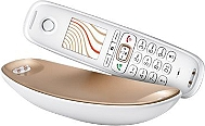 Téléphone fixe GIGASET CL750 Sculpture solo Blanc/champ