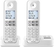 Téléphone fixe PHILIPS D2352W/FR duo rép blanc