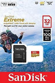 CARTE MÉMOIRE PHOTO SANDISK CARTE M.SDHC EXT. CAM 32GB 90MB