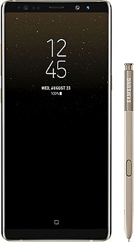 "Smartphone 6,3"" (pouces) SAMSUNG Galaxy Note 8 Or"