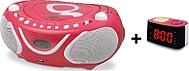 LECTEUR CD/MP3 + RADIO REVEIL METRONIC Gulli Rose
