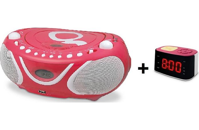Lecteur cd mp3 radio reveil metronic gulli rose - Radio reveil leclerc ...