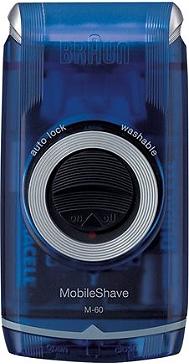 Rasoirs Masculins MobileShave BRAUN M-60b bleu transparent