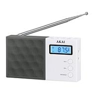 Radio de poche AKAI AR-76W noir et blanc