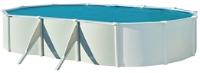 PISCINE MÉTAL OVALE SAPHIR 795 X 120 CM