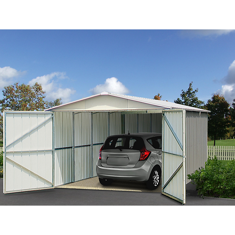 Garage en métal 17 m²