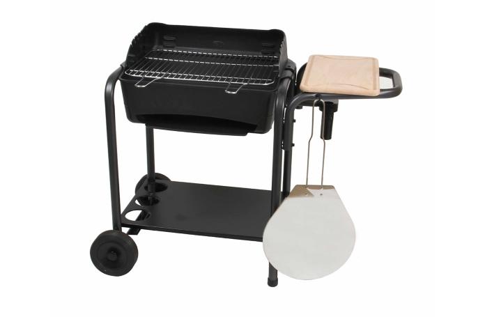 barbecue au charbon de bois en fonte four a pizza roma. Black Bedroom Furniture Sets. Home Design Ideas