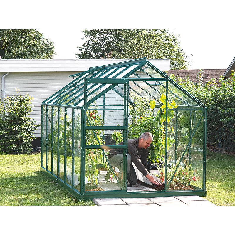 Serre de jardin Venus aluminium laqué 7,07 m²