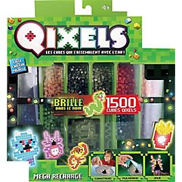 Mega Recarge Glow Qixels 1500 Recharges - 10 Couleurs - KK87074