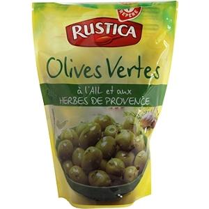 Olives vertes l 39 ail et au thym 250 g - Acide citrique leclerc ...