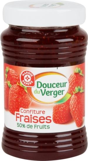 confiture de fraise leclerc