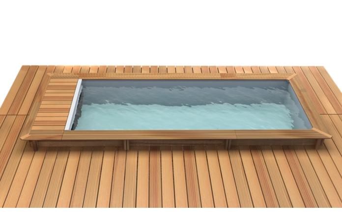 piscine bois urbaine avec couverture integr e 600 x 250 cm achat en ligne maisons loisirs e. Black Bedroom Furniture Sets. Home Design Ideas