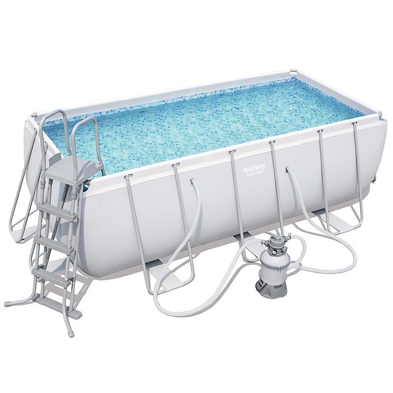Piscine PVC Power Steel rectangulaire 4,12 x 2,01 x 1,22 m