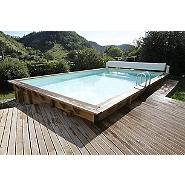 Piscines bois maison loisirs e leclerc for Piscine tubulaire rectangulaire leclerc