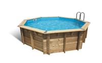 piscine bois octogonale 3m