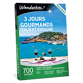Wonderbox - 3 jours gourmands en Italie / Espagne