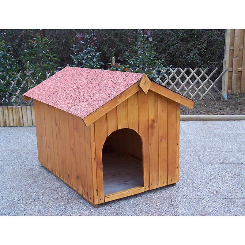 Niche Bois HABRITA pour chien moyen