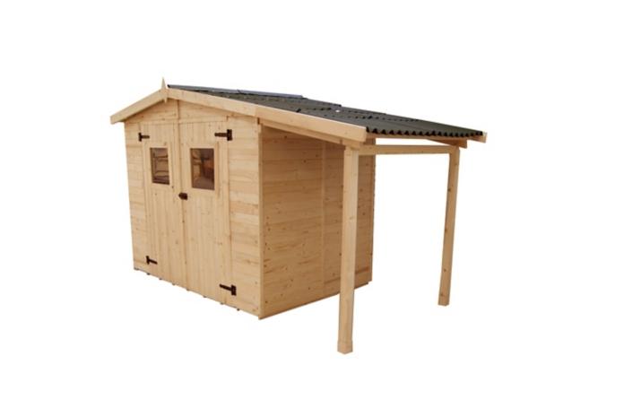 Bucher bois leclerc for Abri de jardin e leclerc