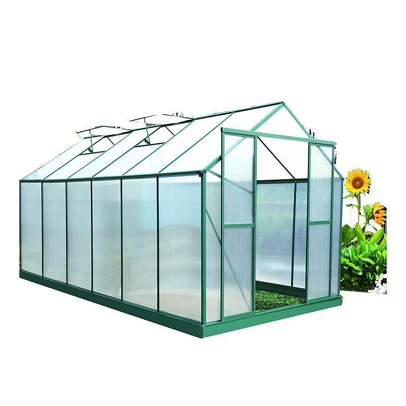 Serre HABRITA polycarbonate alu vert 12,81 m²