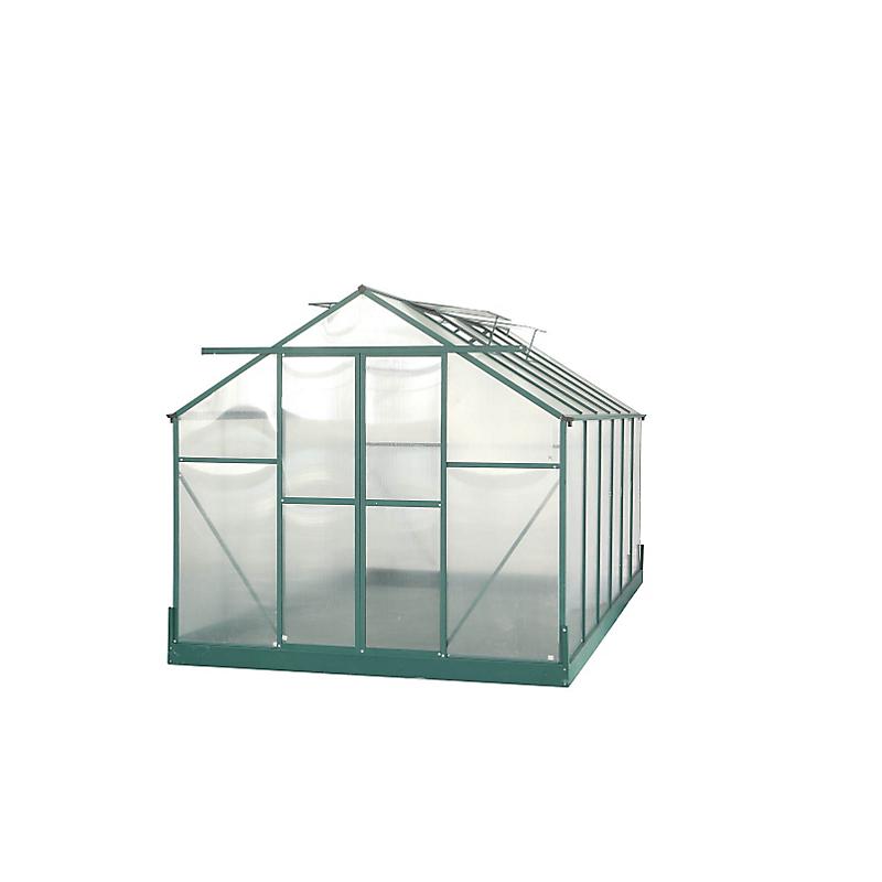 Serre HABRITA polycarbonate alu vert 10,66 m²