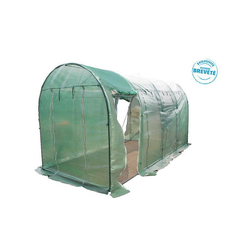 Serre HABRITA de jardin polyéthylène 9 m²