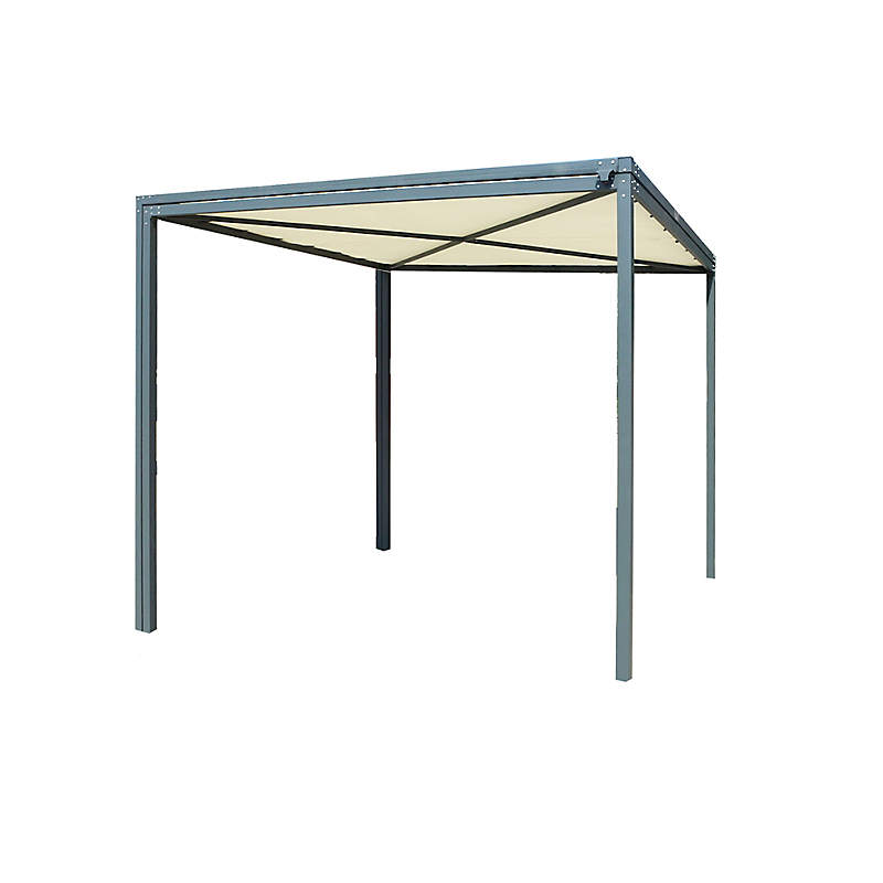 Pergola extensible acier 8-16 m²