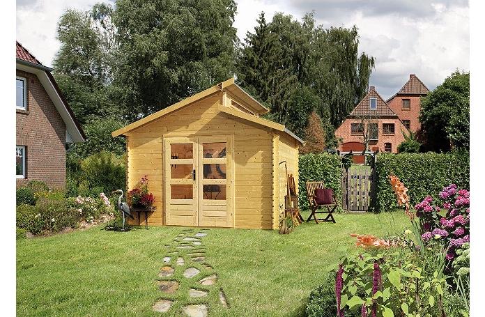 Abri bois varmland1 28 mm m maison loisirs e leclerc for Abri de jardin e leclerc