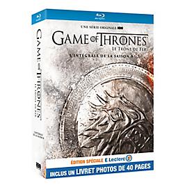 Coffret game of thrones, saison 8, édition spéciale E. Leclerc, Blu-ray