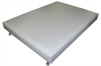 SOMMIER DECO CUIR BLANC 140 X 190 CM