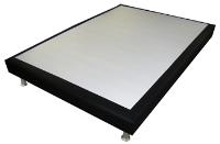 SOMMIER DECO CUIR NOIR 160 X 200 CM
