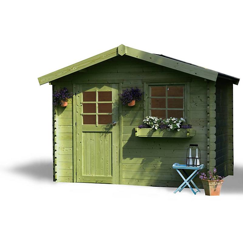 Abri de jardin Sologne Autoclave 28 mm 7,53 m² bois - Maison ...