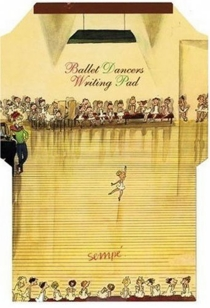 Ballet dancers writing pad - Jean-Jacques Sempé
