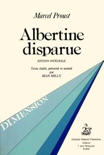 Albertine disparue - MarcelProust