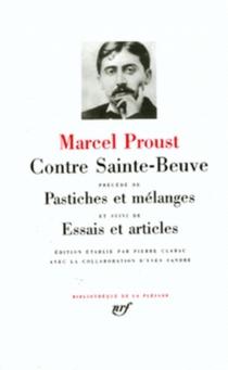 Contre Sainte-Beuve| Pastiches et mélanges| Essais et articles - MarcelProust