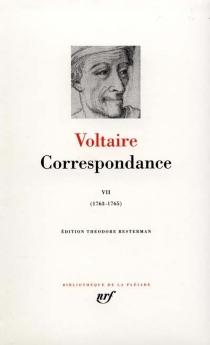 Correspondance - Voltaire