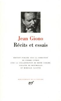 Récits et essais - JeanGiono