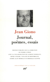 Journal, poèmes, essais - JeanGiono