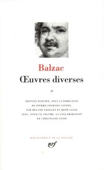Oeuvres diverses - Honoré deBalzac