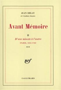 Avant-mémoire - JeanDelay