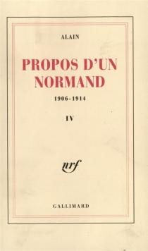 Propos d'un normand : 1906-1914 - Alain