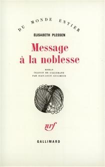 Message à la noblesse - ElisabethPlessen