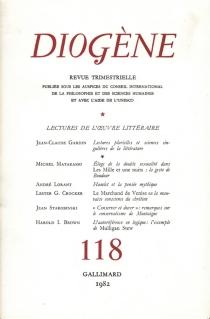 Lectures de l'oeuvre littéraire, Diogène -